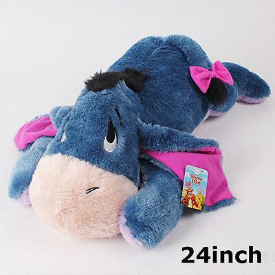 BNWT 24inch Large Lying Eeyore Stuffed Animal Plush Toy Cushion Bed Rest Pillow