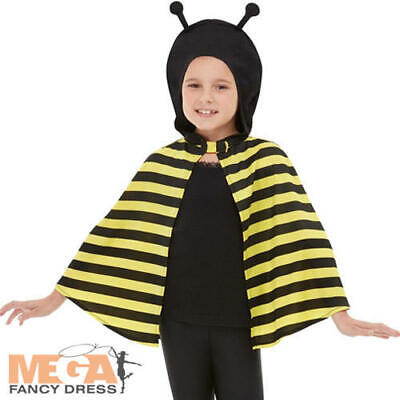 Bumblebee Hooded Cape Kids Fancy Dress Bee Animal Boys Girls Book Day Costume Ac - Bumble Bee Costume For Boys