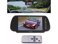 "Car Rear View 4 LED Wireless Reversing Backup Camera 170°+ 7"" TFT LCD Monitor Mirror Kit"