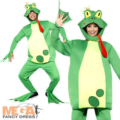 Frog Prince Adults Fancy Dress Toad Animal Fairy Tale Mens Ladies Costume Outfit (Frog Prince Costume)