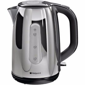 New Hotpoint WK30MDX0 Breakfast Kettle Stainless Steel Was: £49.99
