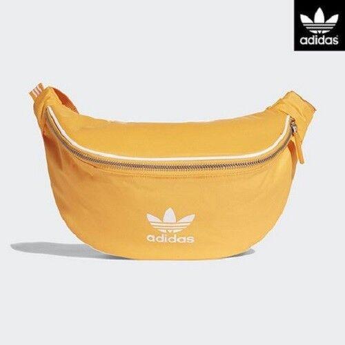 Adidas Originals Bag Hip Sack Waist Zipper 3 Stripes Dh4315 Real Gold