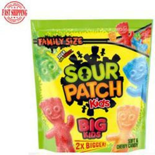 Sour Patch Kids Big Soft And Chewy Candy Family Bag Home Fun Snacks Size 1.7 Lb