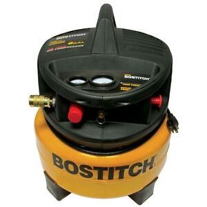 BOSTITCH CAP2000P-OF 2 HP 6-Gallon Oil-Free Portable Pancake Air Compressor