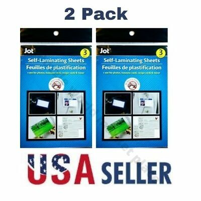 2 Pack Easy Self Laminating Sheets 4x6 No Tools Needed For Id Card. 6pc