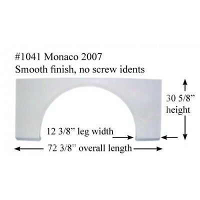 Fleetwood Monaco RV  Fender Skirt  FIBERGLASS  #1041 Polar White