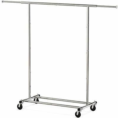 Heavy Duty Clothing Garment Rack Chrome Collapsible and Easy to Carry New