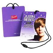 Justin Bieber Backstage Pass
