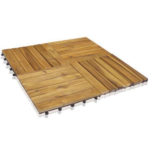 akazien holzfliesen ebay. Black Bedroom Furniture Sets. Home Design Ideas
