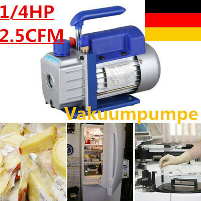 2.5cfm Hvac Ac Rotary Vane 14hp Deep Vacuum Pump Air Refrigerant Single Stage