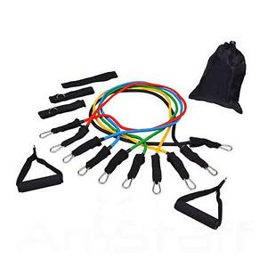 Resistance Bands Exercise Tubes for P90X 11 PCS Set - Brand New