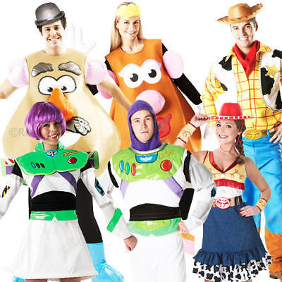 Disney-toy Story Kostüme (Disney Toy Story Adult Fancy Dress Movie Characters Mens Ladies Costume Outfits)