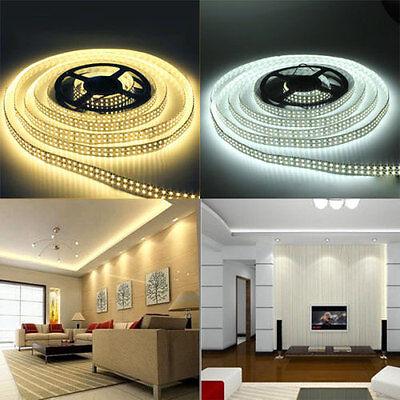 5M SMD RGB 5050 3528 5630 600 1200 LEDs Cool Warm White Waterproof Strip Light