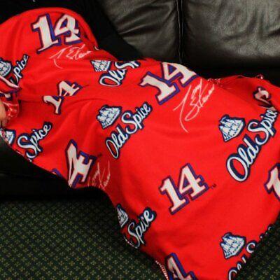 Nascar Tony Stewart # 14 Old Spice Racing Fleece Throw Blanket by Northwest Nascar Fleece Throw