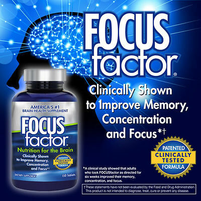 FOCUSfactor-Dietary-Supplement-150-Tablets-Memory-Concentration-Brain-Health-NEW