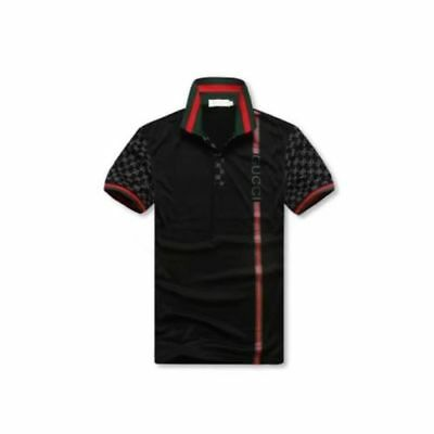 100  Gucci Mens Polo T Shirt  Gg Short Sleeve Polo Shirt Cotton Size M