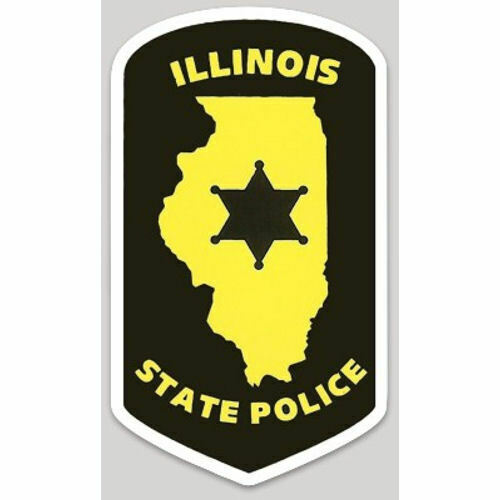 4 Inch Non-Reflective Illinois State Police Trooper Highway Patrol Sticker Decal