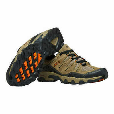 NEW - Fila Men's MIDLAND Trail Hiking Shoes Brown Orange Black - Pick Size