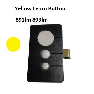LiftMaster Garage Door Opener Visor Remote Transmitter Yellow Learn Button