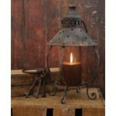 Primitive Table Lantern-Antique Rusty Look-13 Inches Tall-Great Rustic accent