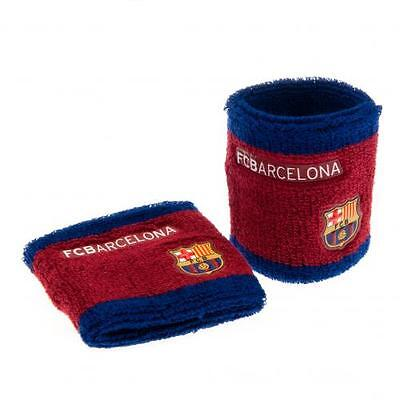 Official Licensed Football Club FC Barcelona Wristbands Sweatbands 2 Pack Gift