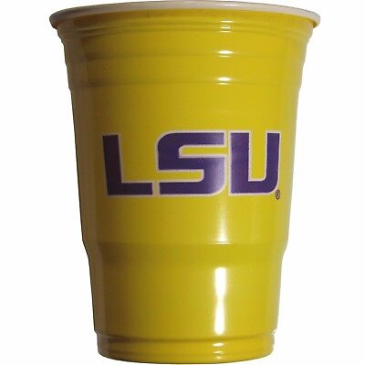 LSU TIGERS PLASTIC GAMEDAY CUPS 18OZ 18CT SOLO LOUISIANA TAILGATE PARTY SUPPLIES