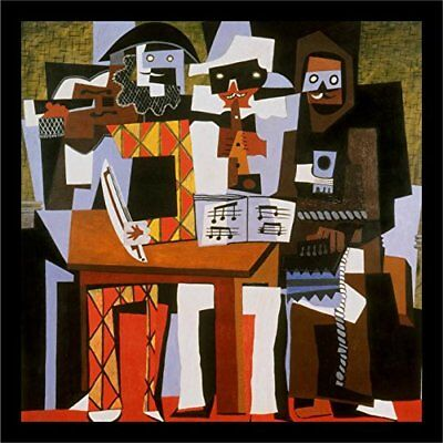 FRAMED Three Musicians by Pablo Picasso 12x12 Art Print Museum Masterpiece