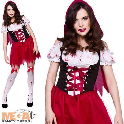 Little Dead Riding Hood Dress Ladies Halloween Horror Womens Costume Outfit - Little Dead Riding Hood Kostüm