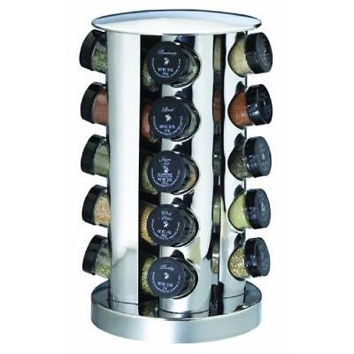Kamenstein 20-Jar Revolving Spice Tower with Free Spice Refills for 5 Years New