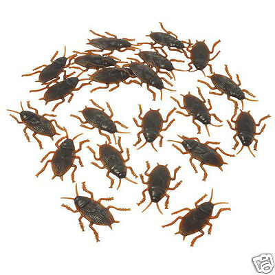 72 Fake Plastic Cock-Roaches Bug & Insect Halloween Party Goody Bag Favor Supply