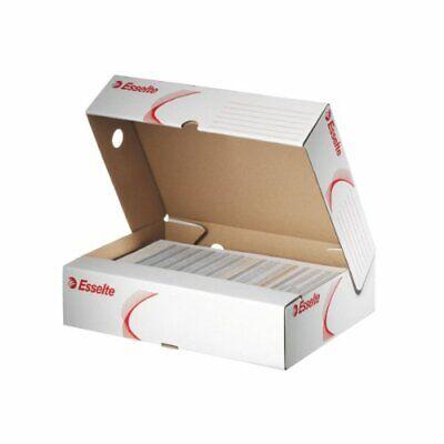 10x Esselte Archiv-Schachtel für DIN A4  Akten aus Karton weiß 80x25,5x32cm