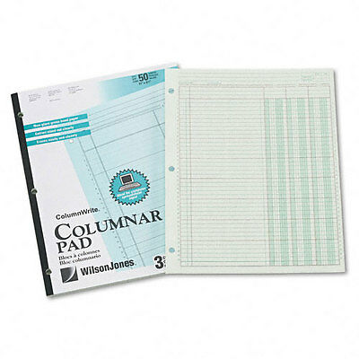 Wilson Jones Accounting Pad Three Eight-unit Columns 8-12 X 11 50-sheet Pad