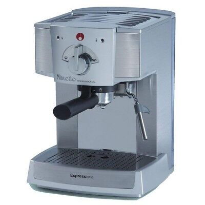 Espresso Machine 4 Cup Coffee Maker 15 Bar Thermoblock Pump Cappuccino Silver