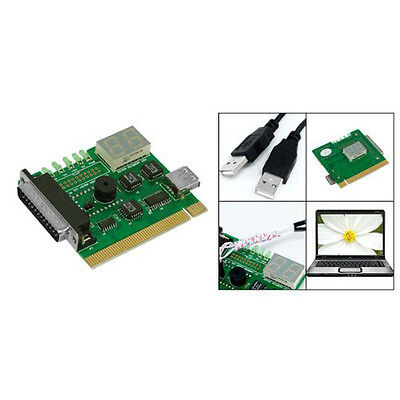 Motherboard USB & PCI Analyser Diagnostic Card Tester for Desktop & Laptop PC LW