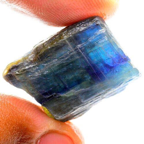 BLUE CRYSTAL 46.70ct UNHEATED BLUE KYANITE ROUGH NATURAL100% NR!