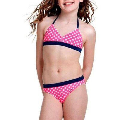 OP Girls' 2 Piece Bikini Swimsuit pink polka dot summer ocean pacific 2 Piece Pink Dot