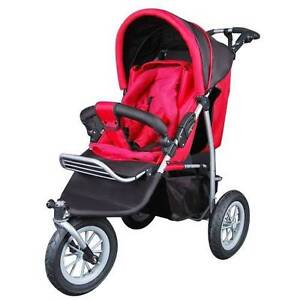 3 Wheel Pram with Rain Cover (Red) Stroller Near New Taylors Hill Melton Area Preview