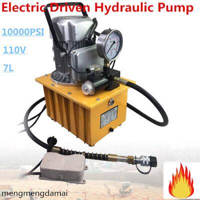 10000 Psi Electric 63mpa Driven Hydraulic Pump Pedal Solenoid Valve Control 110v