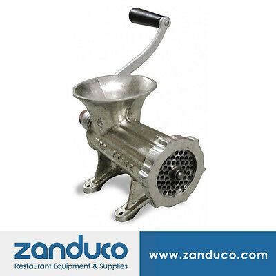 Omcan 22 Manual Meat Grinder Light Duty Cast Iron Tin-plated Meat Mincer