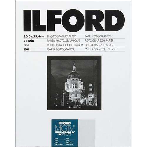 Ilford 8x10 Multigrade IV RC DLX Pearl 100 Sheets 1771318 Black & White Paper