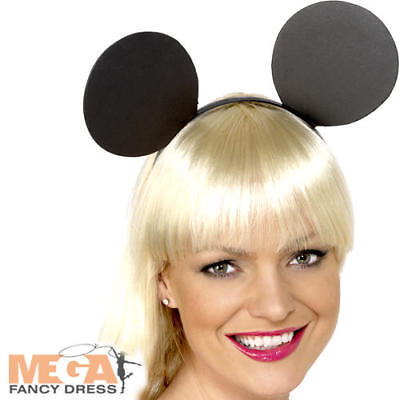 Mouse Ears On Headband Adult Fancy Dress Rodent Animal Rat Costume Accessory New - Rat Ears Costume
