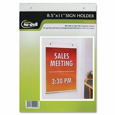 Nu-dell Manufacturing 38011z Clear Plastic Sign Holder Wall Mount 8 12 X 11