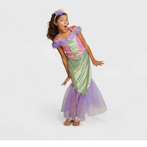NEW Pink Mermaid Girls Costume LARGE 10-12 Halloween Hyde and Eek Boutique Dress
