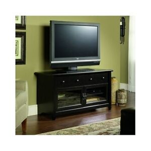 modern wood tv stand black media console large entertainment center