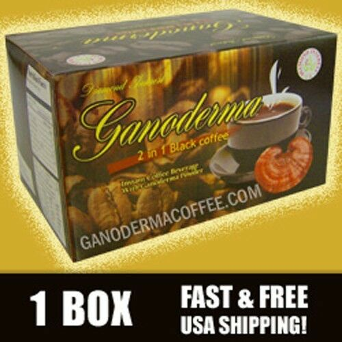 Ganoderma 2 in 1 Black Coffee - 20 ct box - Free Shipping