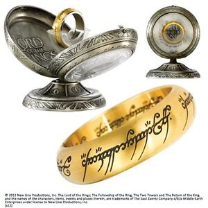 Lord Of The Rings - One Ring Stainless Steel - Gold US size 10 NOBLE COLLECTION