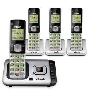 4 Combinés Téléphone Sans Fil et Répondeur VTech Cordless Phone