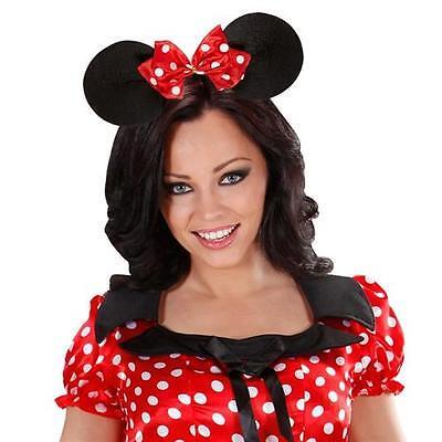 MÄUSEOHREN Haarreif Minnie Mouse Maus Ohren Haarreifen Mäuschenohren Mauseohren