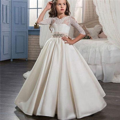Girl Communion Party Prom Princess Pageant Bridesmaid Wedding Flower Tutu Dress
