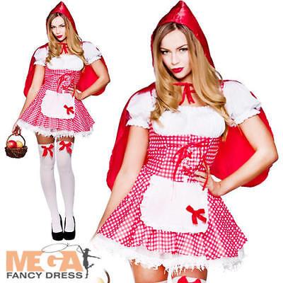 Raunchy Red Riding Hood Ladies Fancy Dress Sexy Fairy Tale Adults Costume - Raunchy Kostüm